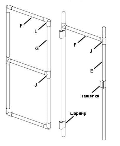 Схема дверного каркаса