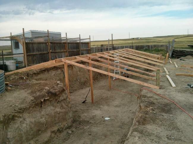 Строительство подземной теплицы